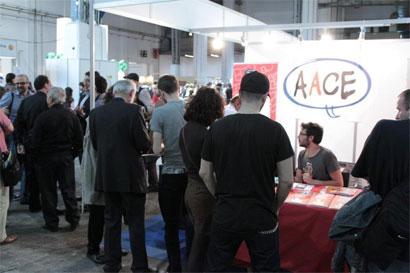 Comic21 en el stand de la AACE en el Salón del Cómic de Barcelona. Foto: Sugoi Ediciones.
